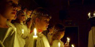 Dei fleste barnehagane i Noreg syng Santa Lucia på bokmål. Den nynorske gjendiktinga til Ingvar Moe er mindre kjent. Foto: Per Palmkvist Knudsen/Cc-commons
