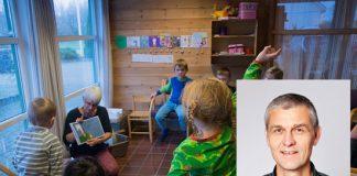 – Dei nynorske borna har ein rett til å møte skriftspråket sitt før dei byrjar den formelle lese- og skriveopplæringa i småskulen, seier Torgeir Dimmen ved Nynorsksenteret. Foto: Ingunn Gjærde og Nynorsksenteret